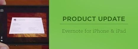 Evernote pour iPhone et iPad propose désormais la numérisation de cartes de visite ... et bien plus encore ! | Coaching digital | Scoop.it