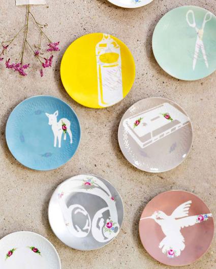 { DIY } Des assiettes modernes et colorées ! | décoration & déco | Scoop.it