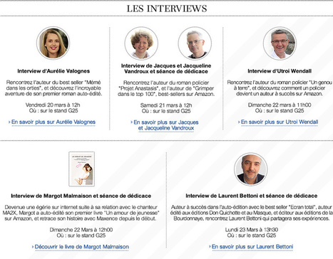 Amazon.fr: Salon du livre 2015 : l'auto-édition avec Amazon: Boutique Kindle | L'auto-édition pour les nuls | Scoop.it