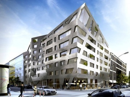 Daniel Libeskind's funky metallic apartments will purify the Berlin air | Sustainability by Design | Scoop.it