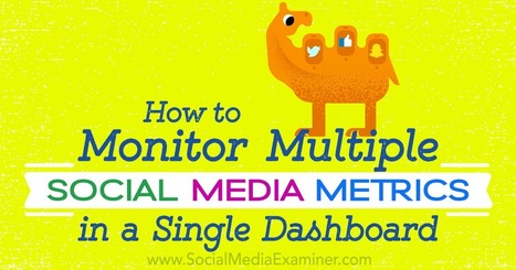 How to Monitor Multiple Social Media Metrics in a Single Dashboard : Social Media Examiner | Go Social Media | Scoop.it