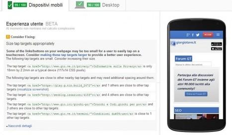 PageSpeed Insights e UX: aggiunti i consigli per migliorare la User Experience | Web Hosting | Scoop.it