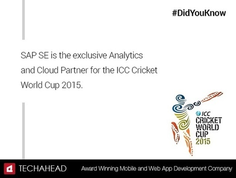 ICC And SAP Bring  Predictive Analytics For The First Time In World Cup 2015 | Project Management and Quality Assurance | Scoop.it