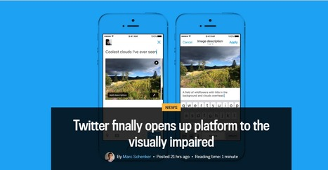 Twitter finally opens up platform to the visually impaired | Healthcare Digital Marketing | Scoop.it