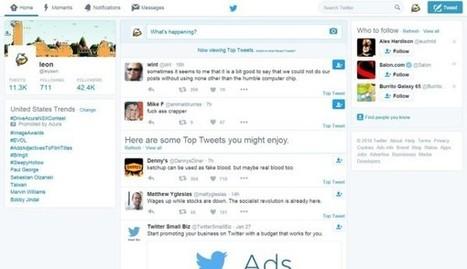 Nouveauté Twitter : les meilleurs tweets affichés en premier - Blog du Modérateur | François MAGNAN  Formateur Consultant | Scoop.it