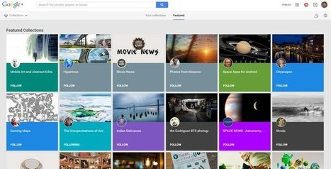 Google Plus lance la fonction Collections. - Les Outils Google | Webmaster-cms | Scoop.it
