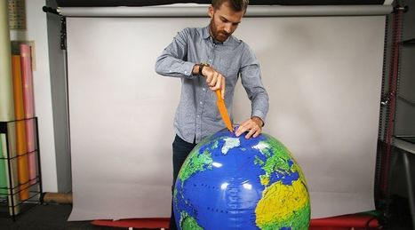 All maps are wrong. I cut open a globe to show why. | AP Human Geography | Scoop.it