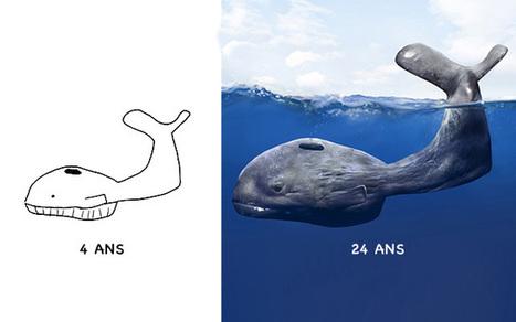 20 ans après, il relooke ses dessins d'enfance | Graphic Design | Scoop.it