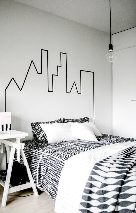 Créer une décoration éphémère avec du washi tape | Idée Créative | Best of coin des bricoleurs | Scoop.it