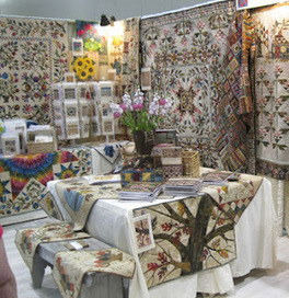 Barbara Brackman's MATERIAL CULTURE: Moda Booth at Quilt ... | She Who Dies With The Most Fabric Wins | Scoop.it
