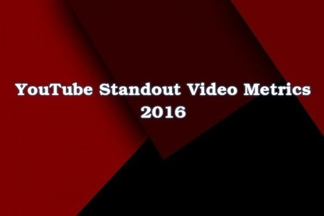 YouTube Standout Video Metrics 2016 | Internet Marketing | Scoop.it