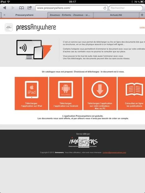 PressAnywhere : développer l'offre de titres de presse en numérique   Orangeade   Scoop.it