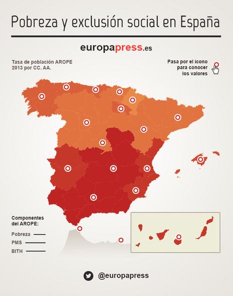 La situación de la pobreza en España, en 5 gráficos   Nuevas Geografías   Scoop.it