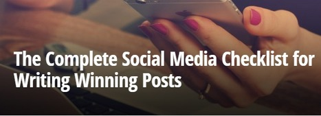 Your Go-To Social Media Checklist for Your Next Update | Social media marketers | Scoop.it