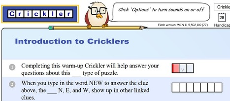 Crickler Vocabulary Ordeal - A crossword-like puzzle to spiff up your vocabulary | AdLit | Scoop.it
