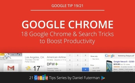 18 Powerful Google Chrome & Search Tricks to Boost Productivity | Technology in Business Today | Scoop.it