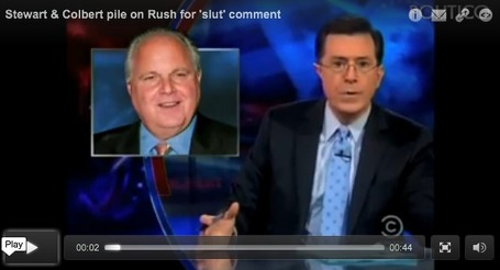 Colbert, Stewart Mock Rush Limbaugh and His Remaining Defenders | Coffee Party News | Scoop.it