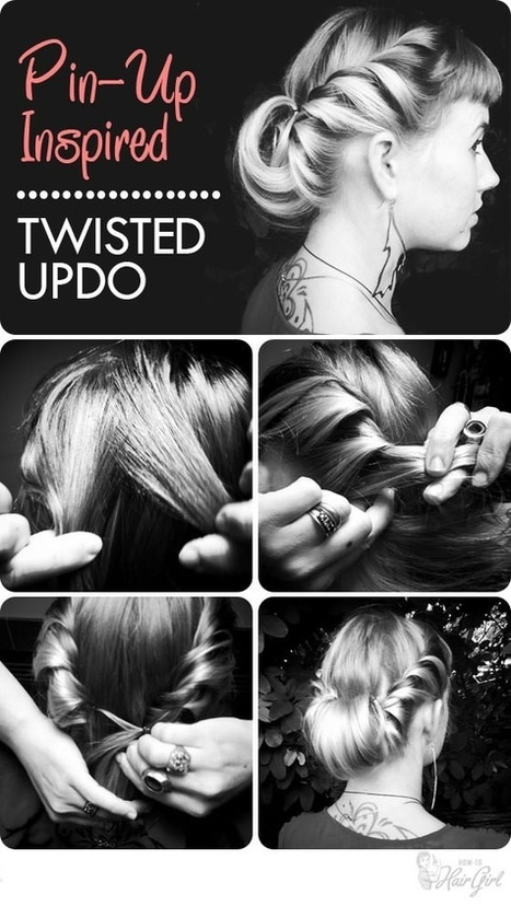 Tight Tonight Pin-Up Inspired Updo | Easy Hairstyles | Easy-Hairstyles.com | Scoop.it