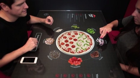 Pizza Hut : un concept de table tactile interactive pour créer et commander sa pizza au restaurant | Industrie agroalimentaire | Scoop.it