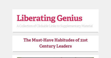 Liberating Genius | Improving Instruction | Scoop.it
