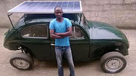 Un Jeune Nigérian transforme une coccinelle en voiture alimentée à l'énergie solaire et éolienne | Solution Energie | Scoop.it
