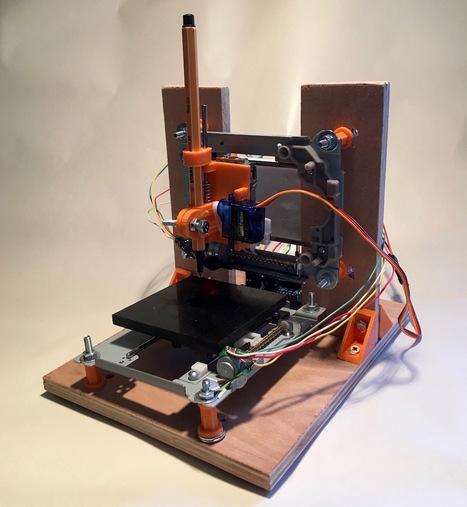 Recycler 2 lecteurs DVD en Mini Traceur (CNC Plotter) Arduino - Projets DIY | Ressources pour la Technologie au College | Scoop.it