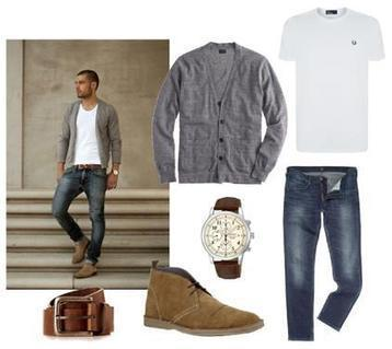 Simple Style With Grey Cardigan And Jeans   Women Fashion Clothing   Set That   Scoop.it