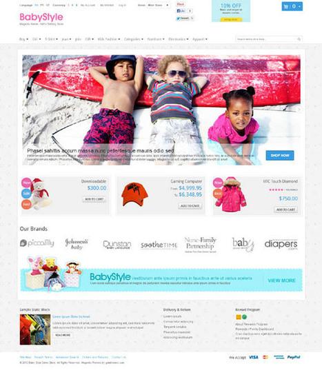 Gala BabyStyle, Magento Responsive Baby Shop Theme | Premium Download | Premium Magento Themes | Scoop.it