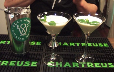 """Chartreuse cocktail contest  """"Oogy wawards"""" 
