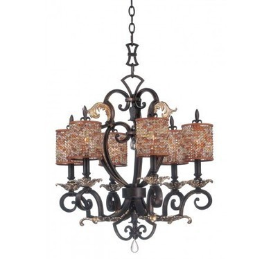 Kalco Lighting 2571SB/S240 Chesapeake 6 Light Small Chandelier With Beaded Shade | Home Remodeling | Scoop.it