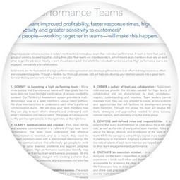 High Performance Teams | GLS Worldwide | SkyeTeam: Leadership-Matters | Scoop.it