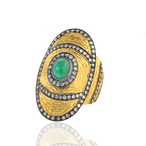 Emerald Diamond Oval Gold Ring | Gold Jewelry | GemcoDesigns | Pave Diamond Palm Bracelets | Diamond Jewelry | GemcoDesigns | Scoop.it