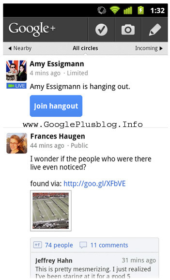 Google Plus Blog: Start Google Plus Hangout From Mobile Phone | GooglePlus Expertise | Scoop.it