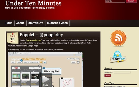 Under Ten Minutes | Ed Tech help videos | talkprimaryICT | Scoop.it