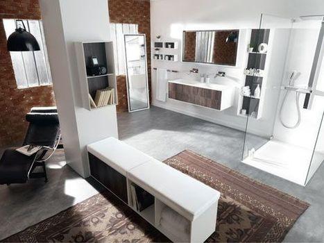Salle de bains : des rangements au top pour gagner de la place | Immobilier | Scoop.it