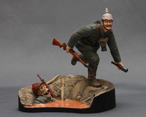 German infantryman. First World War. <br/>Verlinden 1:16 | Military Miniatures H.Q. | Scoop.it