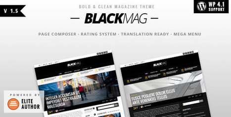 BLACKMAG v1.5 - Bold & Clean Magazine Theme - Yocto Templates | YOCTO WordPress Themes & Plugins | Scoop.it