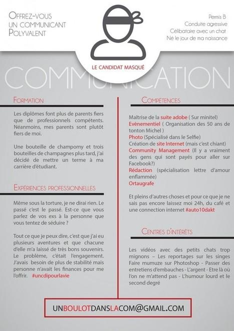 Découvrez le CV anonyme et original du «Candidat Masqué» | Outils et méthodologies de recrutement | Scoop.it