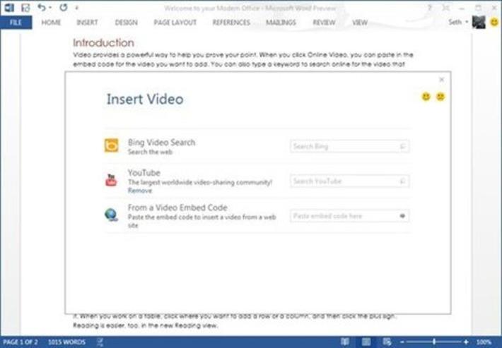 Les vidéos YouTube, Bing… pourront être insérées dans Word 2013   TIC et TICE mais... en français   Scoop.it