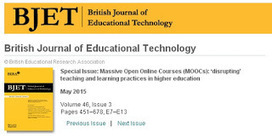Free BJET issue on #MOOC disrupting teaching & learning in #HigherEd | Educacion, ecologia y TIC | Scoop.it