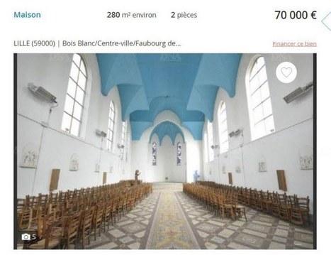 Lille Ancienne église à vendre, 70 000 euros | L'observateur du patrimoine | Scoop.it