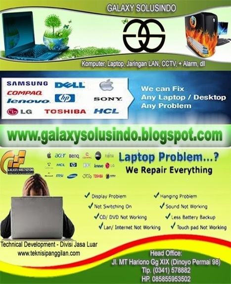 Galaxy Solusindo Computer Malang - |- GALAXY DINOYO -| » Computer, Notebook, Networking, CCTV » Technical Development-Divisi Jsa Luar | galaxydinoyo | Scoop.it
