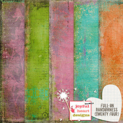 FREEBIE till Monday : 5 Pretty Full-on Randomness Patterned Papers 12x12in   Affordable Business   Scoop.it