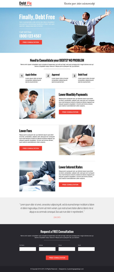 Converting debt relief landing pages for your business sales | BuyLPDesign Blog | buy landing page design | Scoop.it