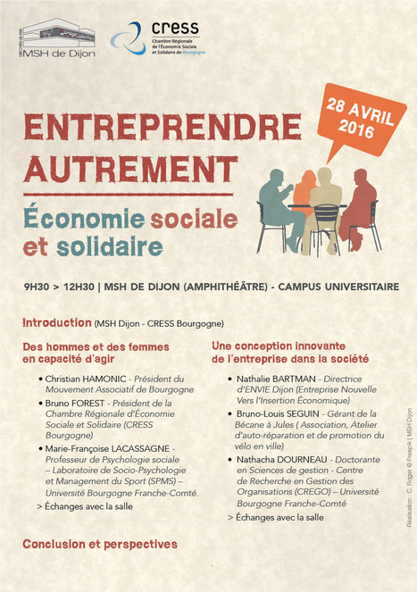 Economie sociale et solidaire : entreprendre autrement (Université de Bourgogne, Avril 2016) | Social Enterprises & the Social Economy | Scoop.it