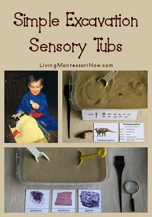 Simple Excavation Sensory Tubs | We Need Montessori | Scoop.it