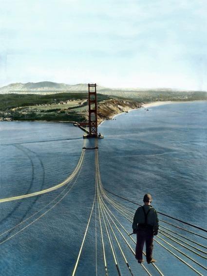 Construction of the Golden Gate Bridge, 1933-1937   GenealoNet   Scoop.it