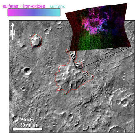 Mars Reconnaissance Orbiter Reveals Clues about Volcanoes Under Ice on Ancient Mars | Geology | Scoop.it