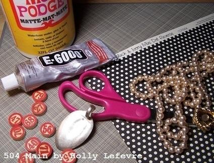 Bingo Marker Spoon Pendant (Jewelry Tutorial) - 504 Main | jewelry tutorial | Scoop.it