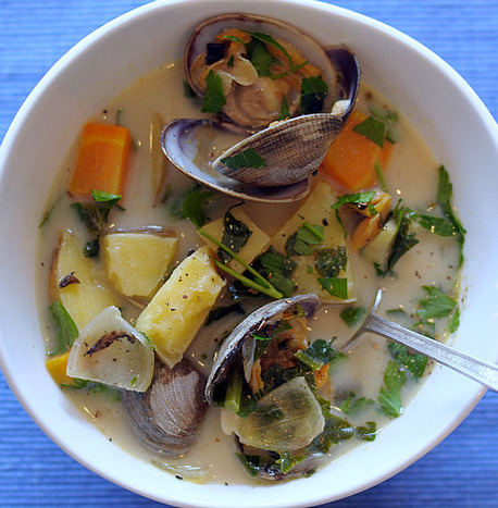 Clam Chowder | Healthy Green Kitchen | SEAFOOD RECIPES | Scoop.it